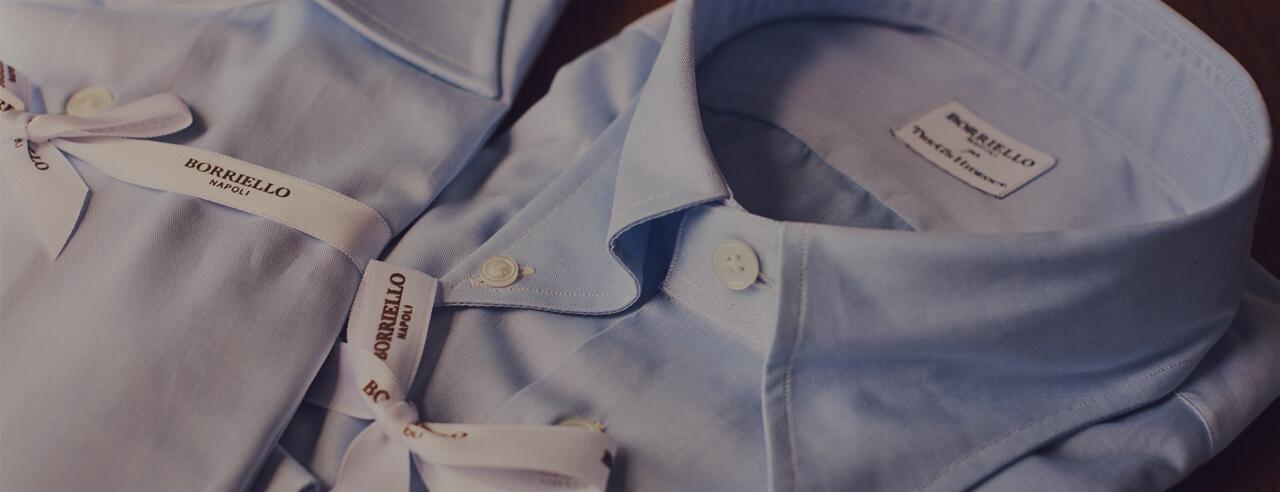 イタリアブランドBORRIELLO(ボリエッロ)のシャツのハンドメイドシャツをTHE G'S HIDEOUT.(ザ・ジーズ・ハイドアウト)でオーダーをする事が出来ます。