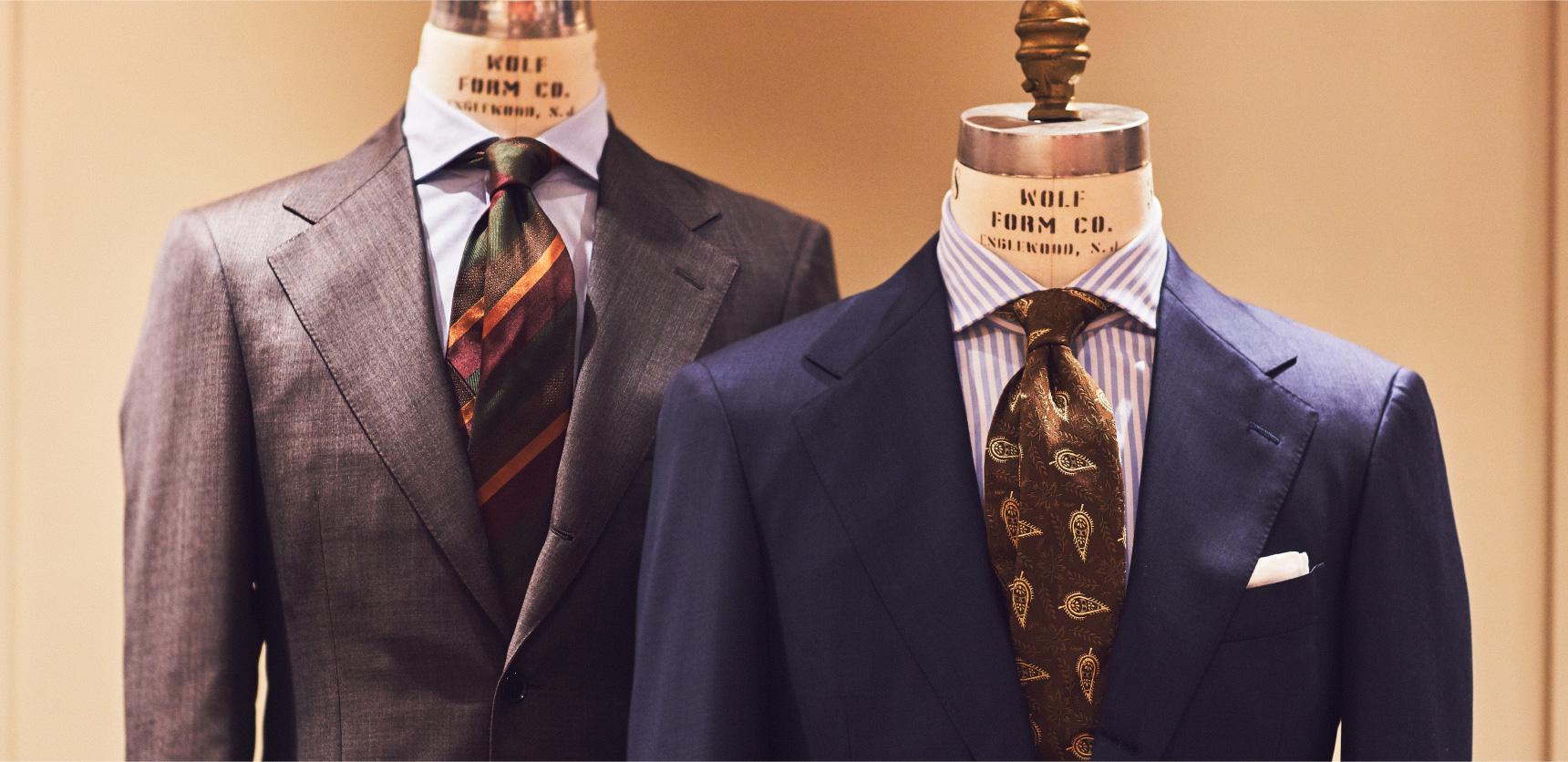 紳士服をご紹介するTHE G'S HIDEOUT.(ザ・ジーズ・ハイドアウト)でビジネスシーンで着するスーツのオーダーをする事が出来ます。